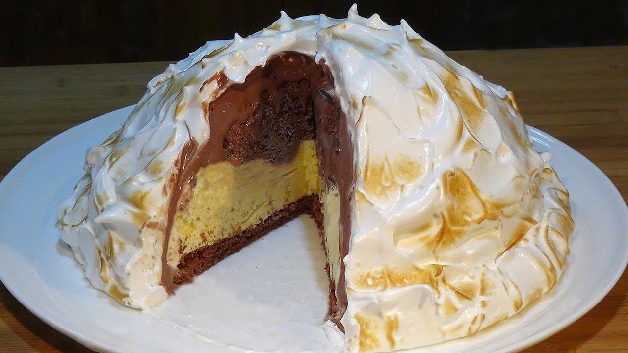 Receta Tarta Alaska súper fácil (Tarta de helado con merengue) - Recetas de cocina, paso a paso