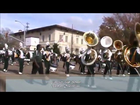 Jim Hill High School Band of Distinction at the 2015 City of Jackson Christmas Parade