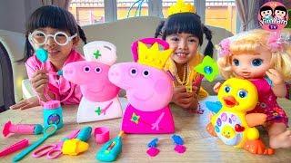 หนูยิ้มหนูแย้ม   ของเล่นเปปป้าพิก ชุดเจ้าหญิงคุณหมอ Peppa Pig Toys