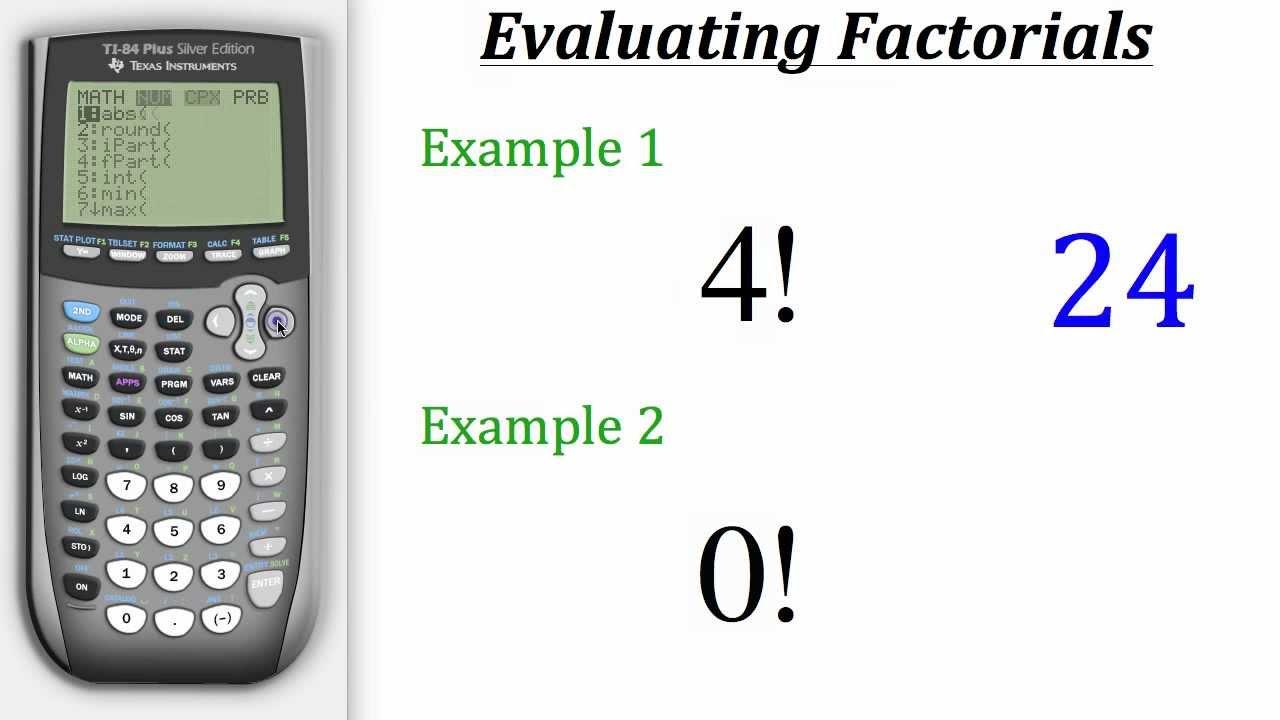 TI Calculator Tutorial: Factorials