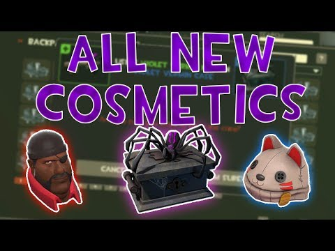 NEW VIOLET VERMIN COSMETICS (New Scream Fortress 2018 Case)