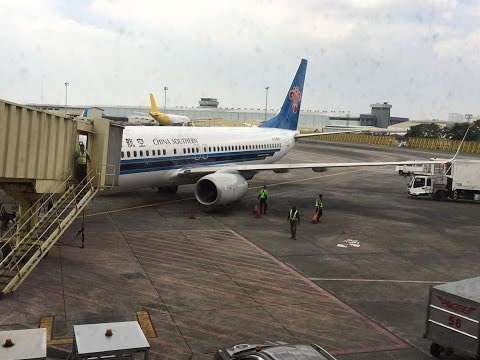 China Southern Airline Flight CZ3029 - Manila to GuangZhou China - Taxi, TakeOff