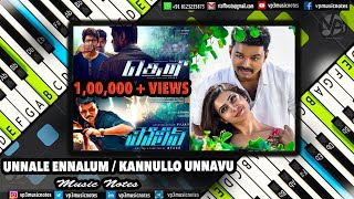Unnale Ennalum (theri)/Kannullo Unnavu (police) Piano Notes /Midi Files /Karaoke