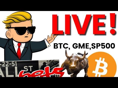Day Trading Live: FRIDAY Open Bitcoin, GME, AMC🚀🚀, TSLA, S&P