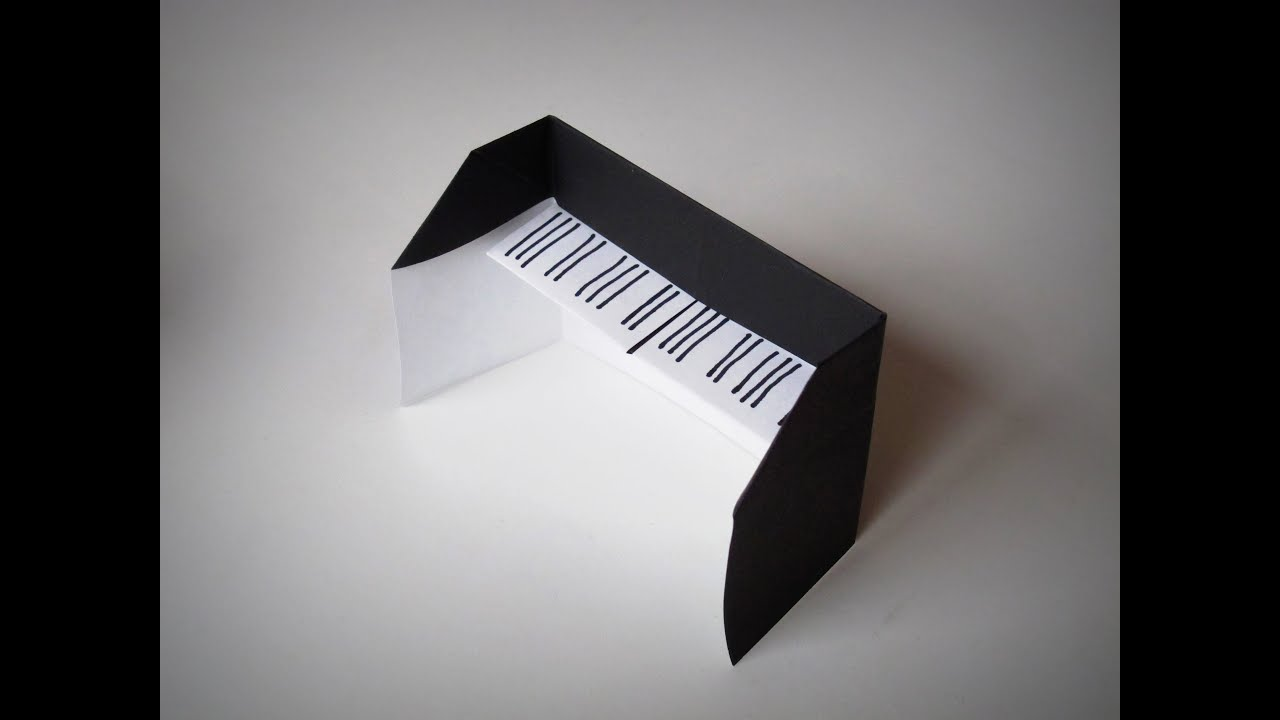 Origami - How to make a Piano - YouTube