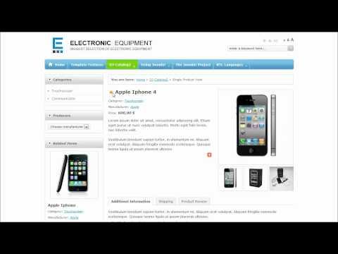Joomla 2.5 Template: JM Electronic Equipment