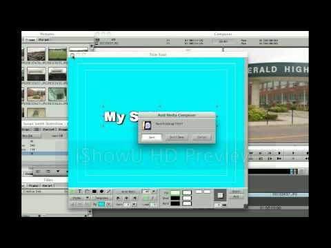 Creating Titles in Avid Media Composer