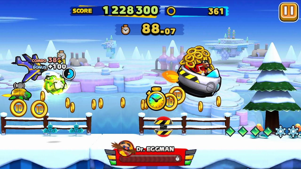 Sonic Runners Android Special Stage Frozen Factory Gameplay