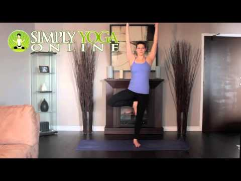 simply yoga online  tree pose right side  youtube