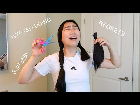 cutting my own hair with squiggly craft scissors like an idiot | JENerationDIY