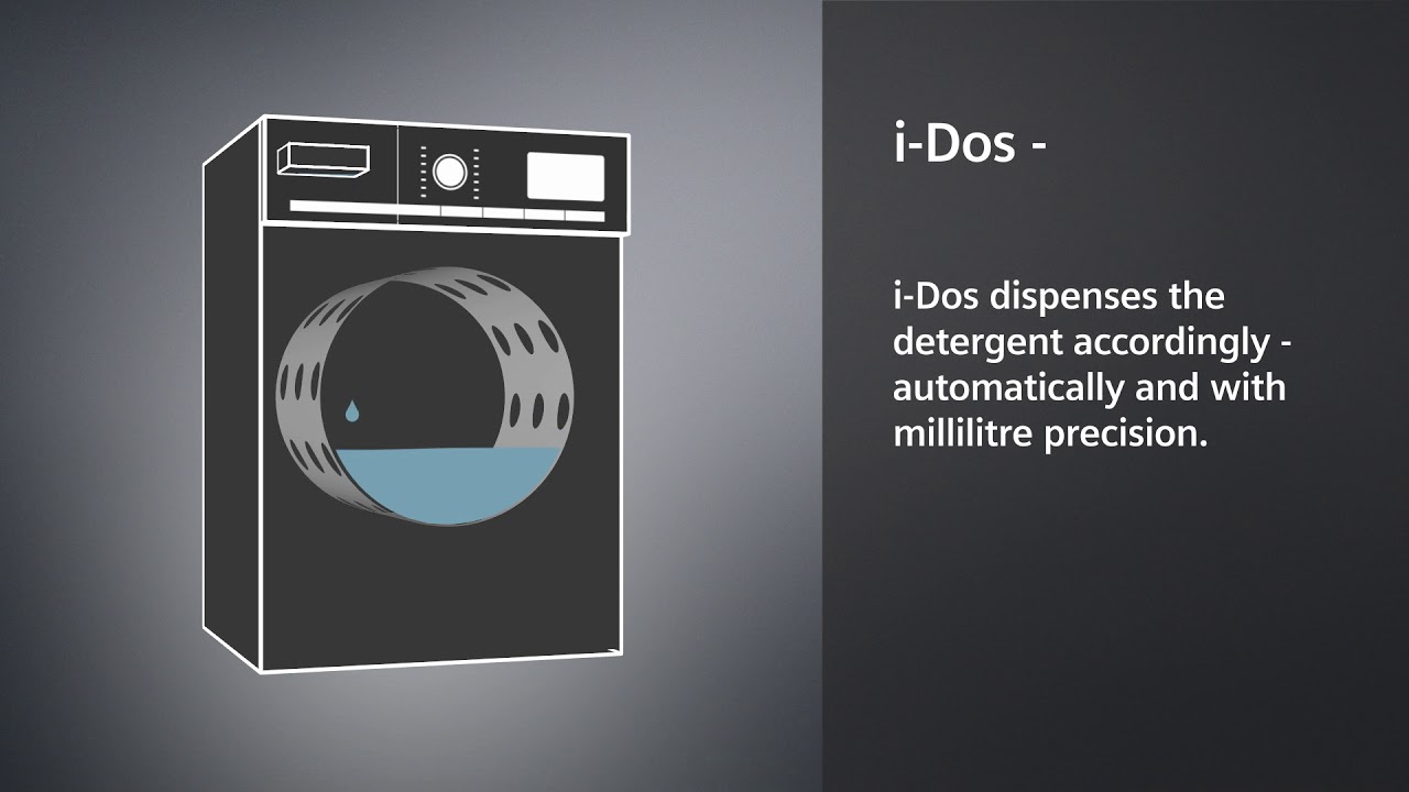 siemens washing machines with i dos youtube. Black Bedroom Furniture Sets. Home Design Ideas