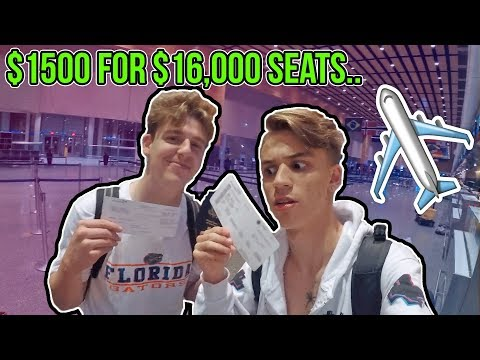 MY LUCKIEST TRAVEL EXPERIENCE EVER!! ($16000 SEATS)