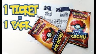 Opening *MOVIE TICKET* Detective Pikachu Booster Packs