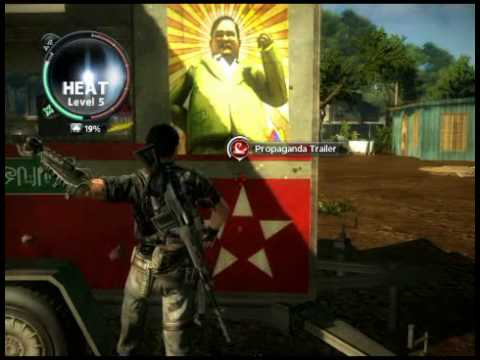 Just Cause 2 How To Get Your Heat Level Up Fast Youtube