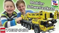 Lego Technic 42009 Mobiler Schwerlastkran Spielzeug Koloss 2606 Teile Zuschauer Grüße Kinder Kanal