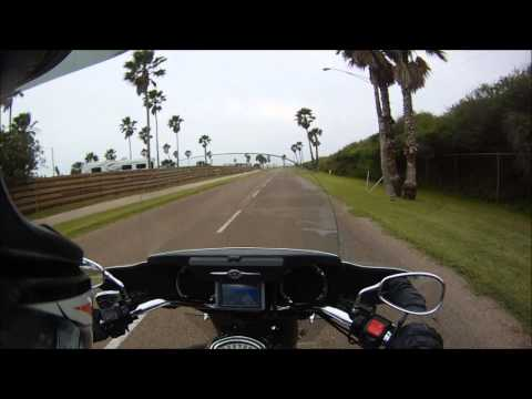 South Padre Island on a motorcycle!