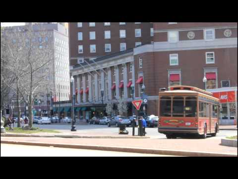 RIPTA: A mix of buses in Downtown Providence, RI