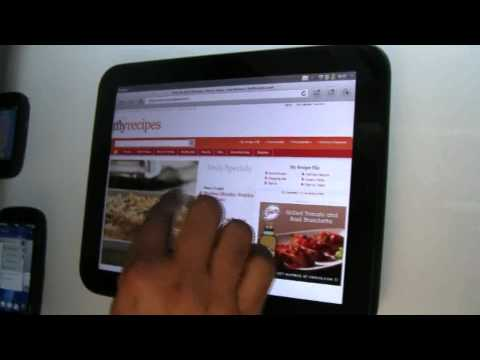 HP Touchpad detailed WebOS Walkthrough - Palm Pre 3 Hands On