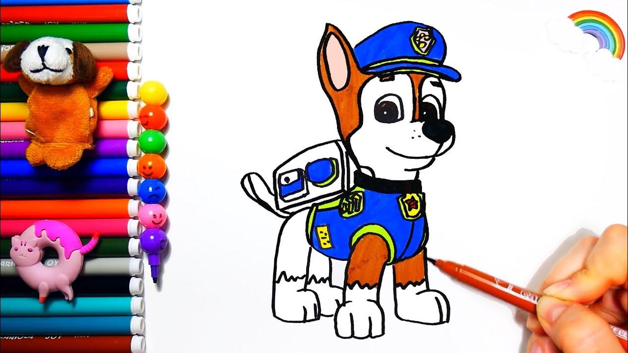 Раскраска Щенячий Патруль Чейз / Paw Patrol Coloring and ...