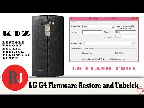LG G4 KDZ Firmware Restore Unbrick and unroot tutorial - YouTube