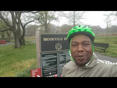 Bike riding in  Brookville Park Rosedale, Queens