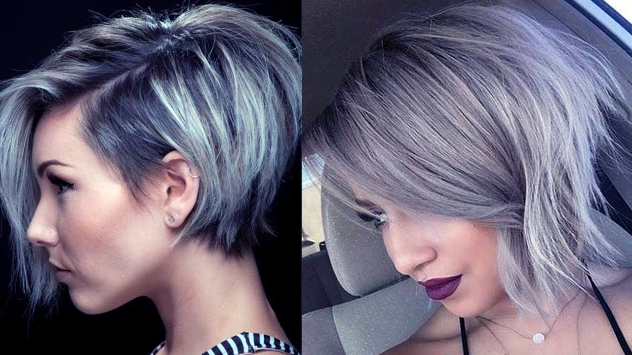 Latest Short Grey Hairstyles Short Grey Hair Pics Youtube