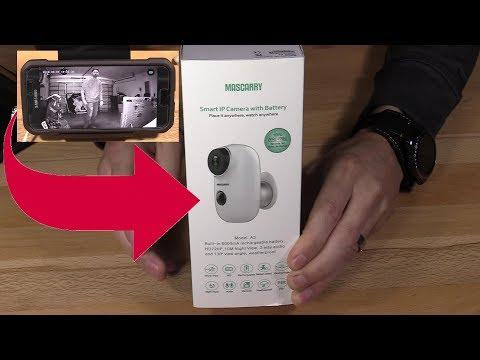 Wireless Wifi Video Surveillance Mascarry ip Camera and Cloudedge App Setup