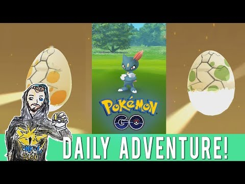 ULTRA RARE SPAWN POINTS? Pokemon GO Daily Adventure in Sacramento! 10km Egg Hunting! Wild Sneasel!