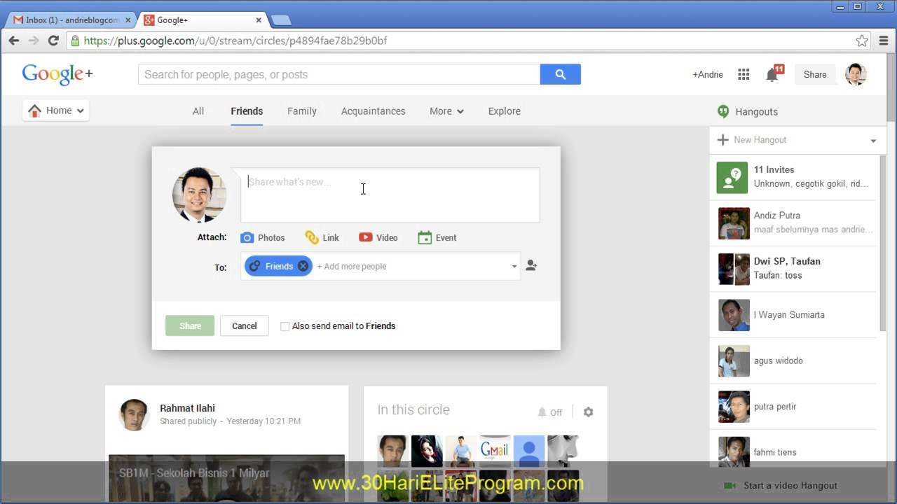 Cara Promosi Ke Google Plus Youtube
