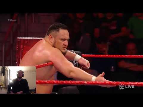 WWE Raw 13/11 2017 Finn Balor & Samoa Joe vs The Club