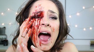 Bleeding Eye Socket/Eye Injury Special FX Halloween Makeup