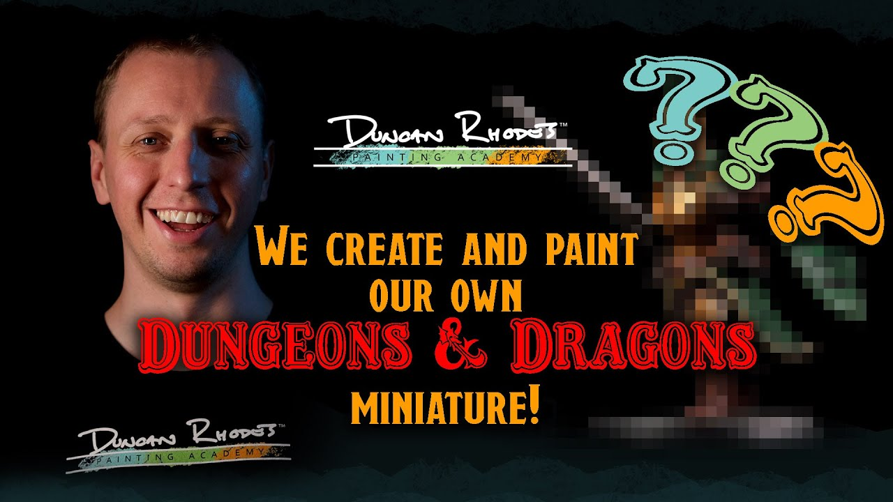 Create & paint your own RPG miniature.