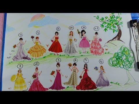 Sticker nhà tạo mẫu búp bê cô dâu/Hình dán cô dâu xinh đẹp/Cuộc thi búp bê cô dâu xinh đẹp nhất
