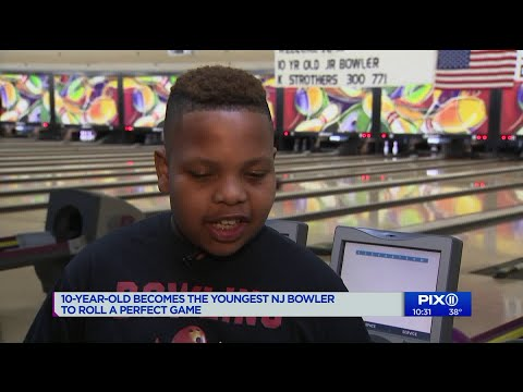 10-year-old boy becomes the youngest NJ bowler to roll a perfect game