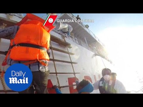 Italian coastguard rescues thousands of migrants headed for Italy - Daily Mail