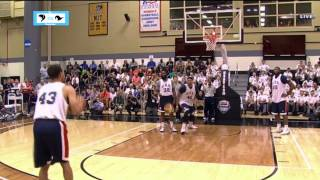 Kelsey Minato vs. Steph Curry 3-pt Shootout at USA Practice | LIVE 8-18-14