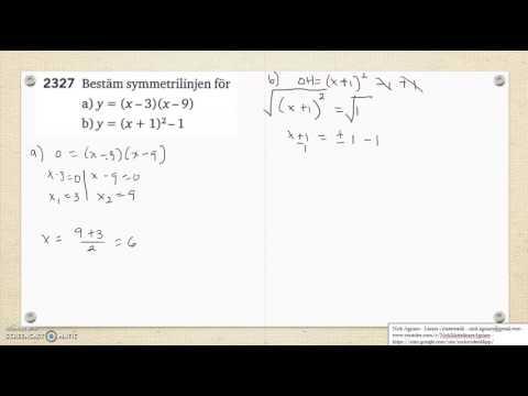 Matematik 5000 Ma 2c   Kapitel 2   Andragradsfunktionens största minsta värde 2327