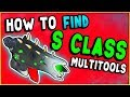 HOW TO FIND S CLASS MULTITOOLS! Coordinates Alien Multitool & Experimental Multitool | No Man's Sky