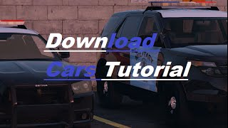 GTA 5 LSPDFR | How to Download Cars Tutorial | 2015 Dodge Charger and Ford Explorer (INTERIOR)
