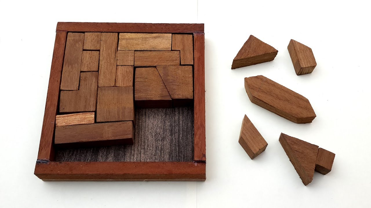 How to Make a Wooden Puzzle with Difficult Design - DIY ...