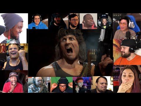 Everybody React to Mortal Kombat 11 Ultimate | Official Rambo Gameplay Trailer (MASHUP) |