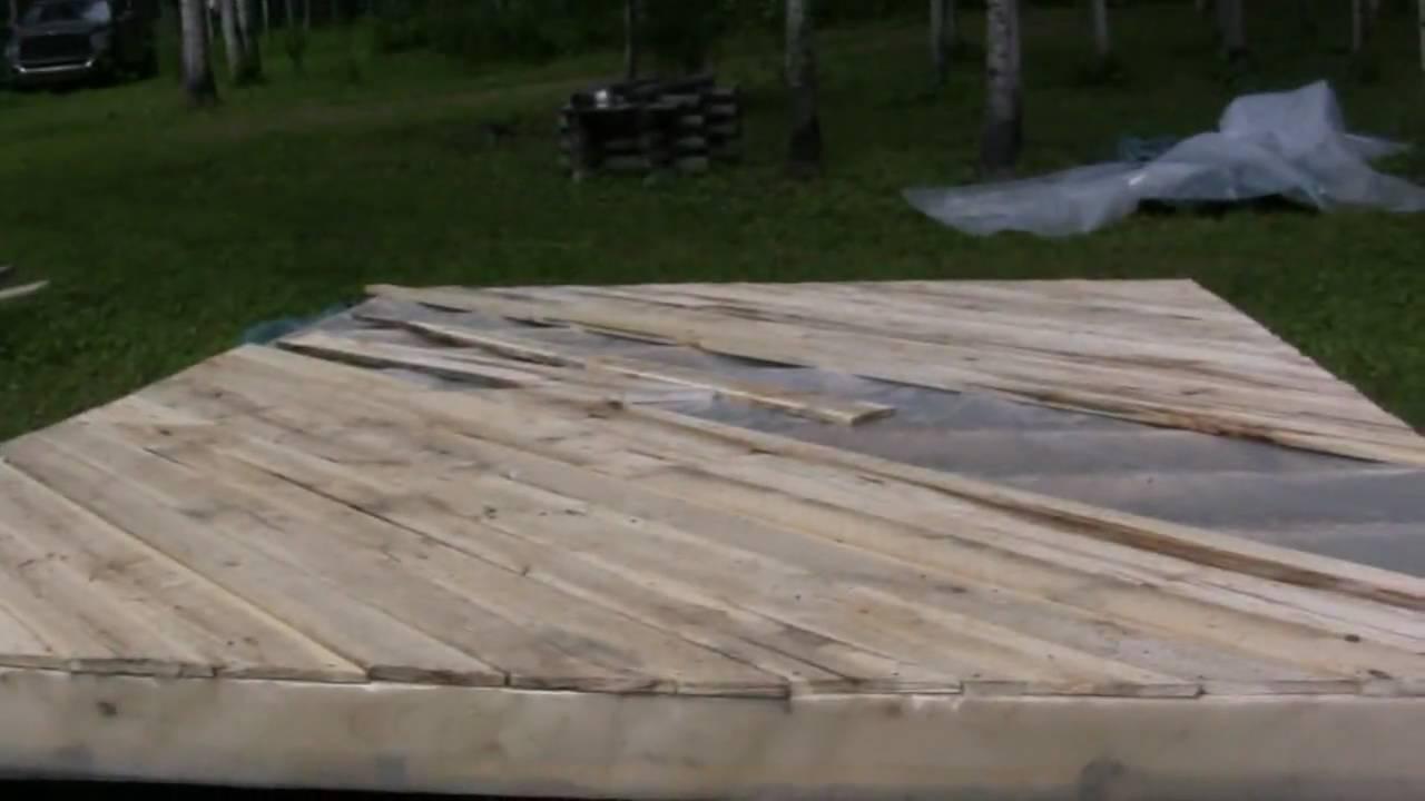 Homemade Wood flooring - Homemade Wood Flooring - YouTube