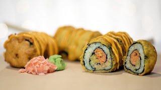 Spicy Tuna Roll Corn Dog Recipe | Eat The Trend