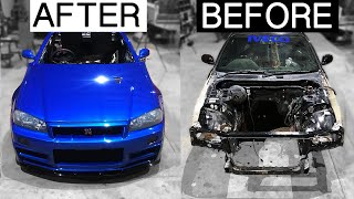 BUILDING A R34 SKYLINE body in MINUTES | Poor Man's GTR [EP15]