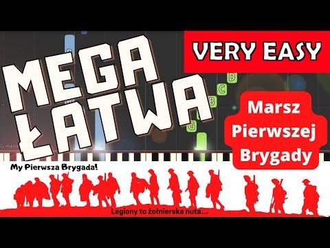 🎹 Pierwsza brygada (Marsz pierwszej brygady) - Piano Tutorial (MEGA ŁATWA wersja) 🎹