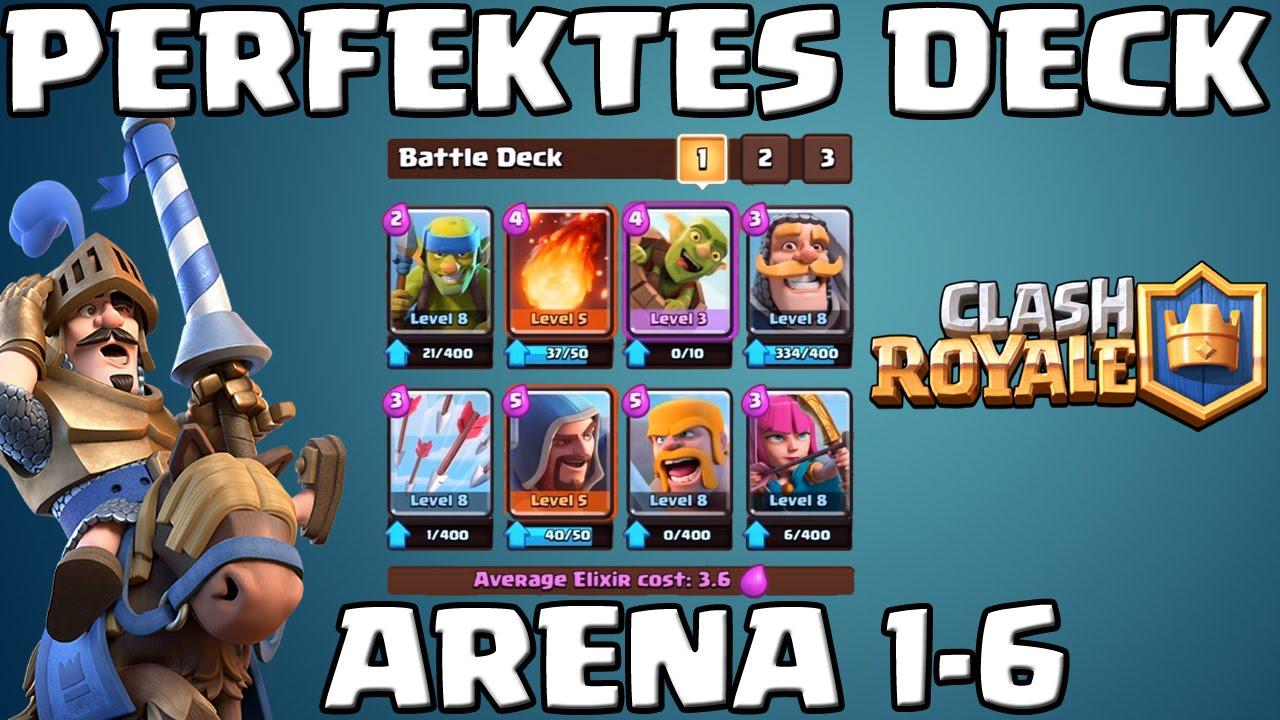 PERFEKTES DECK - ARENA 1-6 || Let's Play Clash Royale [Deutsch/German ...