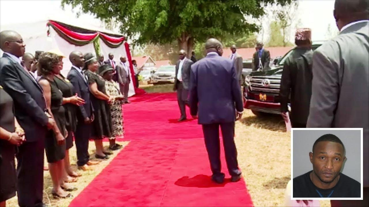 Uhuru Kenyatta Arrivals Joseph Kamaru Funeral Service Burial