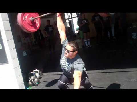 Orange Coast CrossFit - Kenneth Leverich - 1 arm Power Snatch @ 155#
