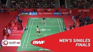 F | MS | Kento MOMOTA (JPN) [1] vs Anders ANTONSEN (DEN) | BWF 2019