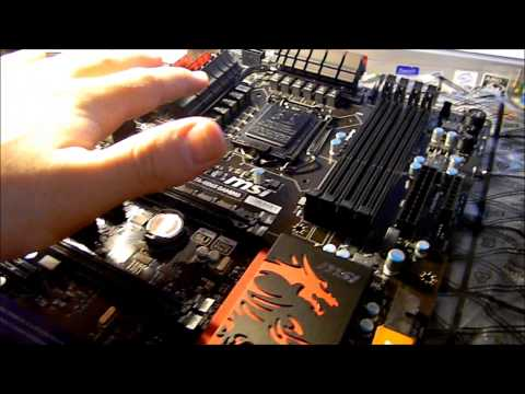MSI Z77A-GD65 LGA 1155 Gaming Motherboard - Unboxing and Review - RoosterTek